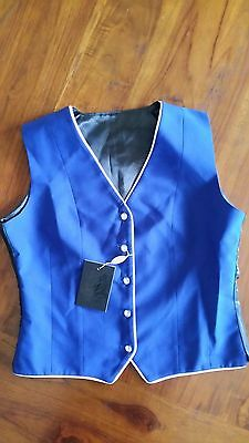 Peter Williams Ladies Show Vest Royal Blue wool sz10 BNWT RRP$99 free post D98