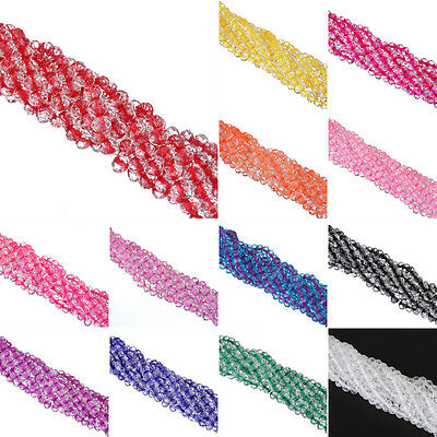 Fashion 17Colors Faceted Rondelle Crystal Glass Loose Spacer Beads 6mm/8mm