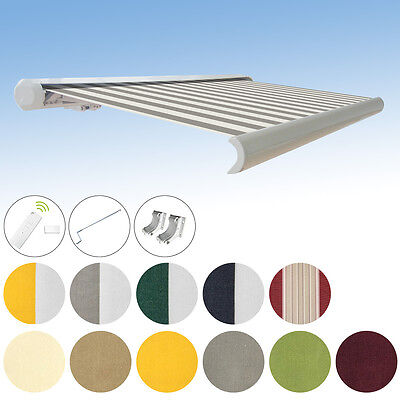 Full cassettes Awning electric with Choice of colour 3,5x3m Rc/Motor/PA acrylic