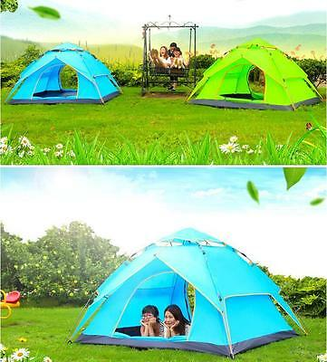 Outdoor Camping Holiday Festival Waterproof POP UP TENT HIKING CAMPING 3-4People