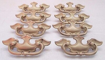 Vintage Lot of 8 Victorian Drawer Pulls Chippendale Bead Blasted