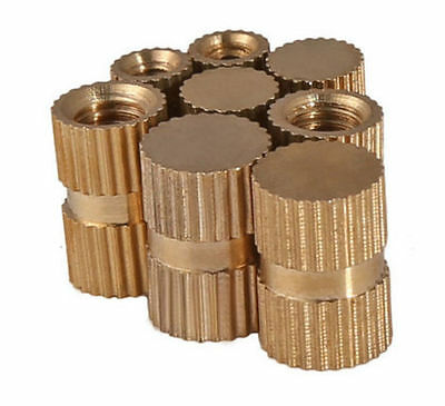 M3 M4 M5 M6 M8 Plastic Mould Brass Knurled Insert Nut Blind Hole Nuts