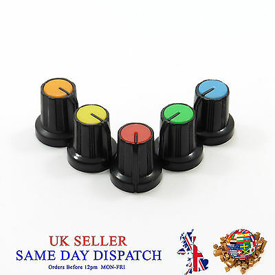 6mm Small Push on Knob for Potentiometer Plastic Cap Different Colors 15mm
