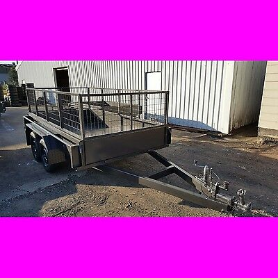 10x5 galvanised tandem trailer with cage box trailer local made brand new
