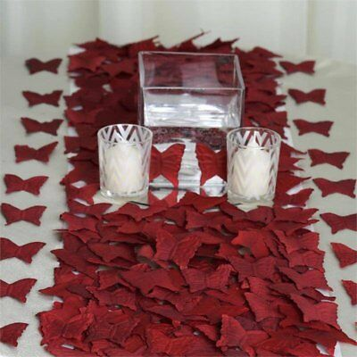burgundy hearts heart wedding table confetti foiletti