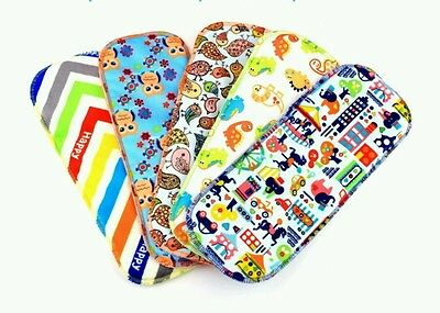 Set of 2, New Printed 5 Layer Microfiber Cloth Diaper Inserts! Washable Reusable