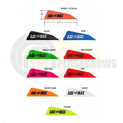 "AAE 1.7"" Pro Max Hunter Vanes for Archery Arrows Compound and Recurve Bows"