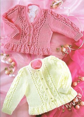 Knitting Pattern Baby/Child's 4 Ply Cardigans 41-66 cm  0 mths - 6 years  (116)