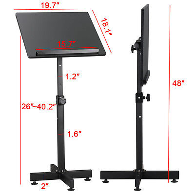 Height Adjustable Podium Stand Lectern Church Stand Portable with Metal Base New