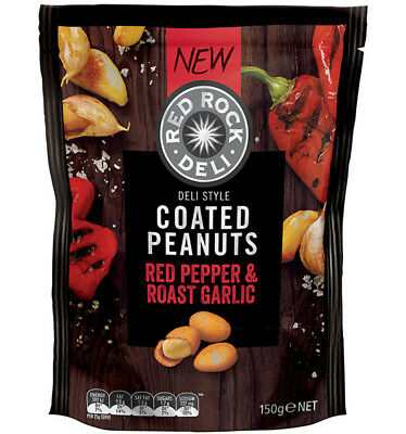 Red Rock Roasted Pepper Garlic Nuts 150g