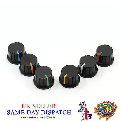6mm Big Push on Knob for Potentiometer Plastic Cap Different Colors 24mm