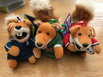 3  Basil Brush Children's Society Key Ring Size 2007 Complete Collection