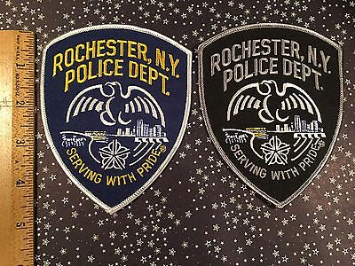 SET OF TWO: Rochester Police Patch NEW YORK