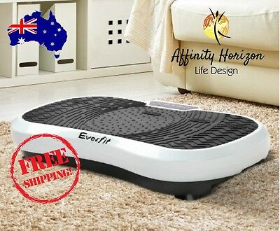 Everfit Powerful 1000W Vibrating Plate Exercise Platform Cardio Wt Loss - White