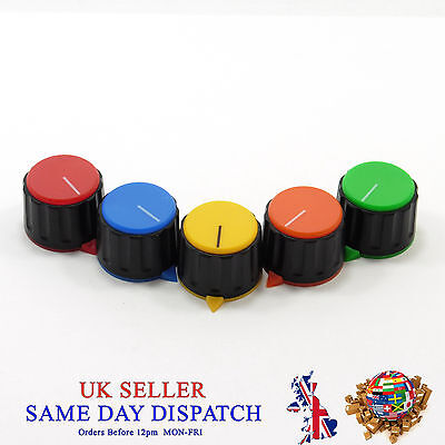 6mm Big Push on Knob for Potentiometer Plastic Cap Different Colors 23mm