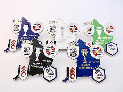 Reading Sheffield Weds Huddersfield Fulham 2017 Playoff Group Match Pin Badge
