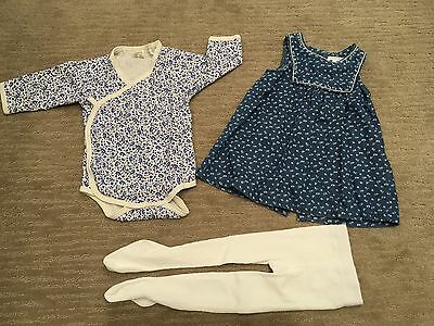 PURE BABY NATURE BABY MARQUISE ONEPIECE DRESS TIGHTS SIZE 0 (6-12mths)