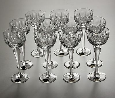 Royal Brierley 11 X Tall Hock Glasses, 7.5 Inches.