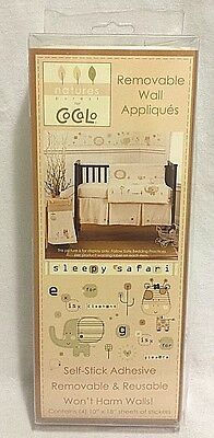 NEW CoCaLo Baby Nursery Removable Wall Decal Stickers- Sleepy Safari 4 Sheets