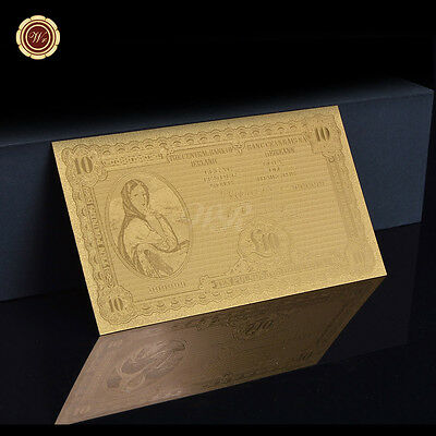 WR Ireland Souvenir 10 Pounds Gold Leaf Banknote Old Edition Design Best Gifts