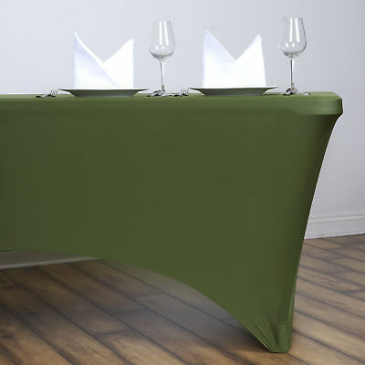 Willow Green 6 ft RECTANGLE SPANDEX STRETCH TABLE COVER Fitted Tablecloth Party