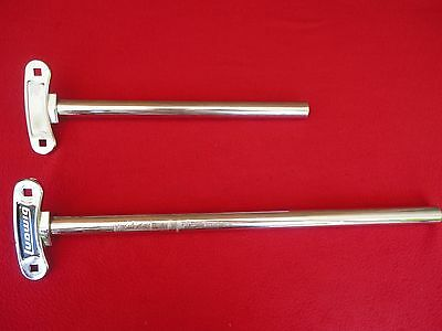 1979 Vintage Ludwig 2 Double Tom Holder Poles Project  B/o Badge Era Made In Usa