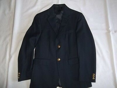 Boys CHAPS Navy BLAZER JACKET Size 14 R Regular Dress Suit Coat