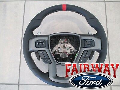 F-150 RED Carbon Fiber Steering Wheel Accent Overlay Decal Kit Ford f150 15-17