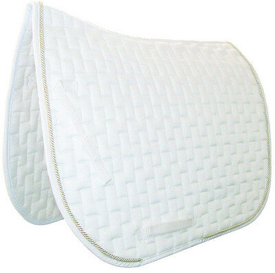 MARK TODD DELUXE DRESSAGE Saddle Pad Cloth Competition  Silver Braid White Full