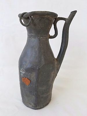 Antique Chinese Archaic Pewter Bottle Form Pitcher w/ Jian Ding Wax Seal