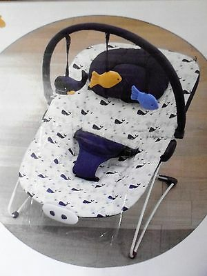 Mothercare Whale bay musical vibrating bouncer chair