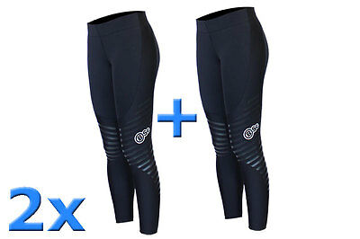 2 x Body Science V7 Womens Compression Athlete Tights -BSc Sportswear Long Pants