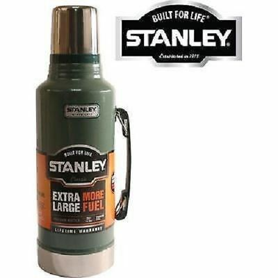 New Green Stanley 1.9 Litre Flask Stainless Steel Vacuum Bottle Hot Cold Thermos