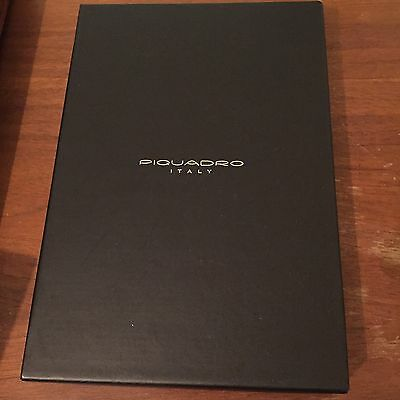 NEW Piquadro Italy Brown Leather Address Book In Box!