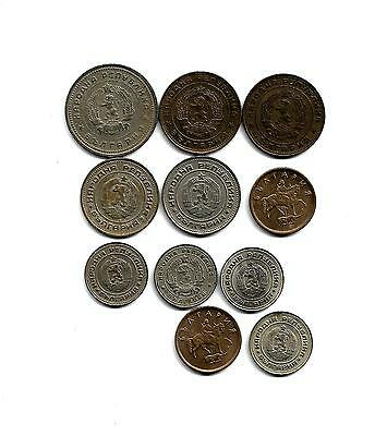 Bulgaria: Mixed Lot of 11 Bulgarian Coins from 1962-2000