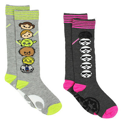 Tsum Tsum Star Wars Girls Womens 2 pack Knee High Socks Set SV002GSB