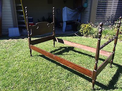 Pair Antique Twin Beds