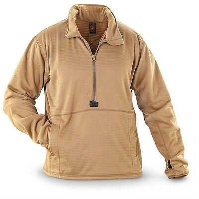 NEW USMC Polartec Grid Fleece Power Dry Shirt PECKHAM Size MEDIUM Pullover MCWCS