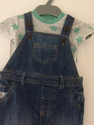 Next Boys Dungarees And Top 3-6 Months