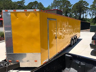 2015 Triple Axle Tri Axle Enclosed Cargo Trailer 8.5 x 32 8ft Height Upgrade