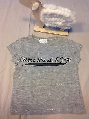 T Shirt Bébé 24 Mois 2 Ans Little Paul And Joe Gris