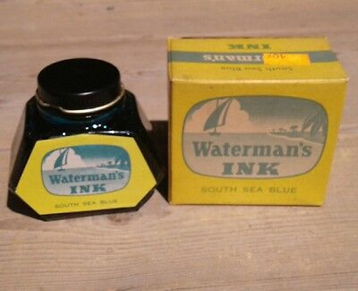 Vintage Watermans Ink South Sea Blue