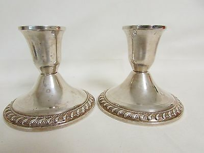 Pair of Vintage Duchin Sterling Silver Candlesticks Candle Holders