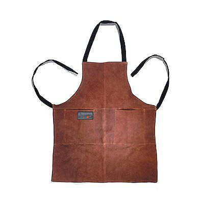Outset Leather Grill Apron BBQ bbq Barbeque Grilling Cooking Cook Man Men NEW