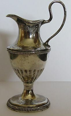 pretty vintage silver plated pitcher jug
