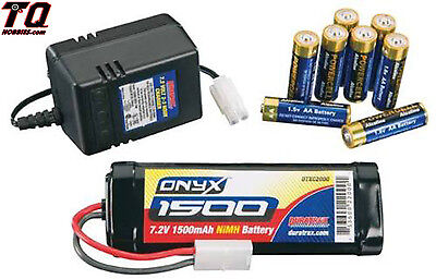 Duratrax Power Kit Onyx 1500mAh 6-Cell NiMH Stick Battery+ Wall Charger dtxp4615