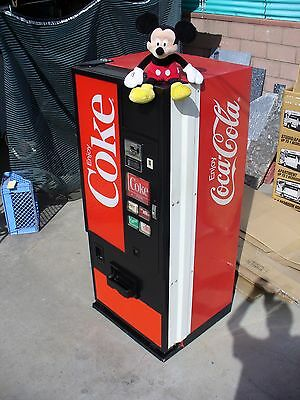 SMALL size COCA COLA SODA VENDING MACHINE-ONLY 5.5 FT TALL-pepsi-coke-beer