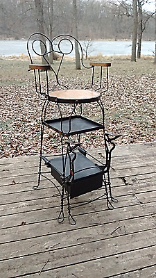 Antique Parlor Style Twisted Wire Shoe Shine Chair