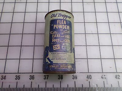 Vintage Old Trapper Flea Powder tin