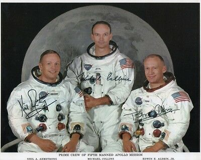 NEIL ARMSTRONG ALDRIN NASA APOLLO MISSION SIGNED 10x8 INCH LAB PRINTED PHOTO